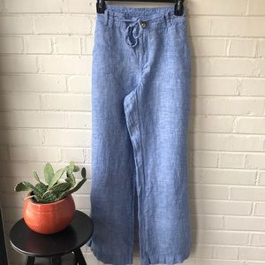 Blue linen pants from INC